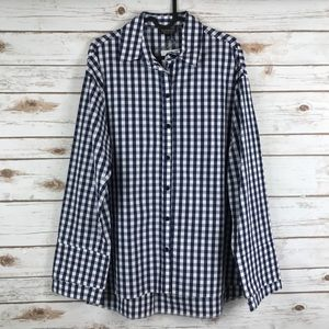 TOPSHOP checkered button down shirt (binA4)